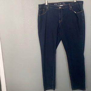 Ava & Viv Skinny Stretch Jeans Size 20W